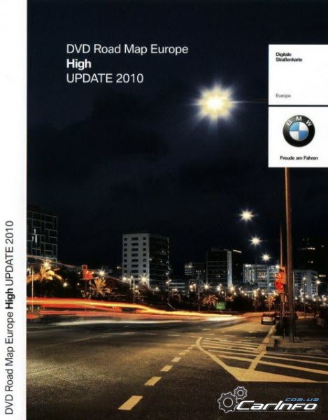 BMW DVD Road Map Europe Professional 2010