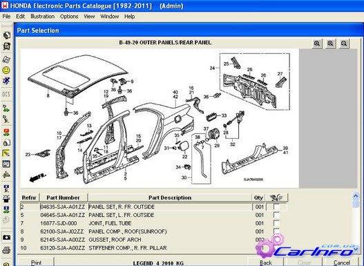 Каталог запчастей Honda EPC
