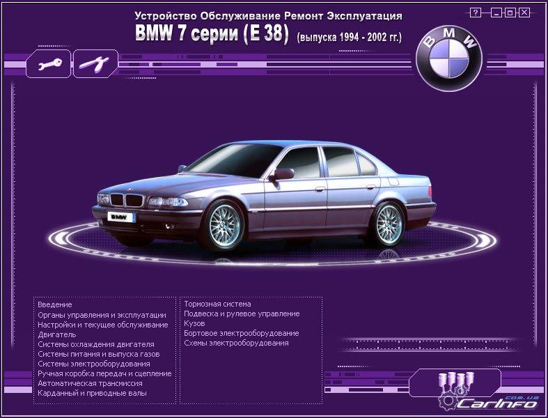 BMW 7 серии (E38) с 1994 по