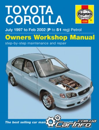 Toyota Corolla 1997-2002 Haynes Service and Repair Manual