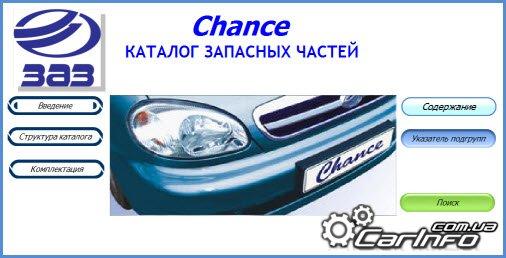 Каталог запчастей ZAZ Chance