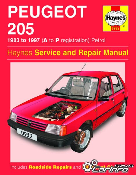 peugeot 205 1983 1997 haynes owners service repair manual. Black Bedroom Furniture Sets. Home Design Ideas