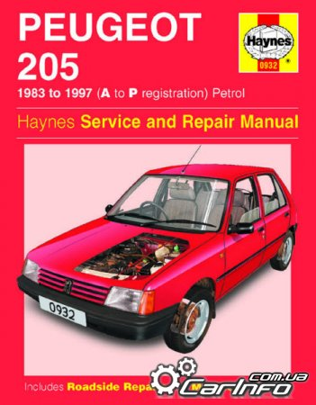 Peugeot 205 1983-1997 Haynes Owners Service & Repair Manual