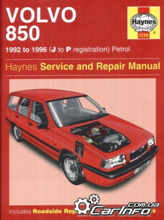 Volvo 850 1992 to 1996Haynes Service and Repair Manual