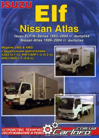 NISSAN ATLAS 1999-2004, ISUZU ELF / N-series 1993-2004 дизель