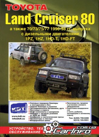TOYOTA LAND CRUISER 80 1990-1998 дизель