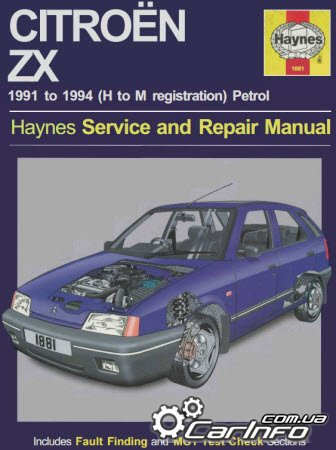 Citroën ZX Petrol (91 - 98)  Haynes Service and repair manual
