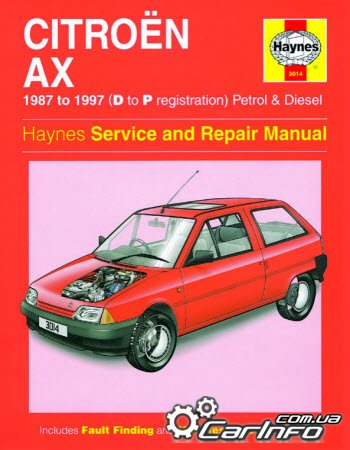 Citroen AX (1987-1997)  Haynes Service and repair manual