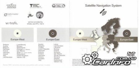 Honda Satellite Navigation 2012 DVD V3.60 (Eastern Europe)