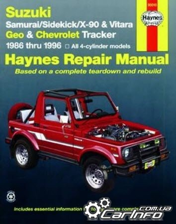 Suzuki Samurai / sidekick & Geo Tracker 1986 -1996 Haynes Repair Manual