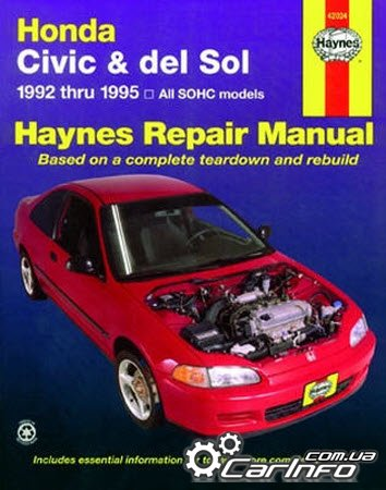 Honda Civic & del Sol 1992 thru 1995 Haynes Repair Manual