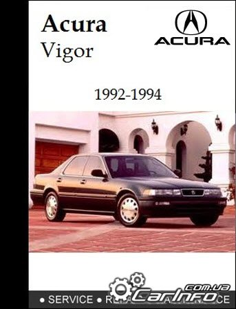 Acura Vigor 1992-1994 Service Repair Manual