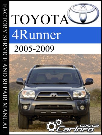 Toyota 4runner 2005-2009 Factory service and Repair manual