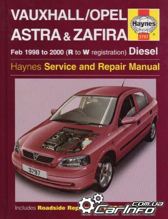 Opel Astra G and Zafira Diesel 1998-2000 Haynes Service and Repair manual
