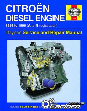 Citroen Diesel Engine 1.7 1.9 1984-1996  Haynes Service and Repair Manual