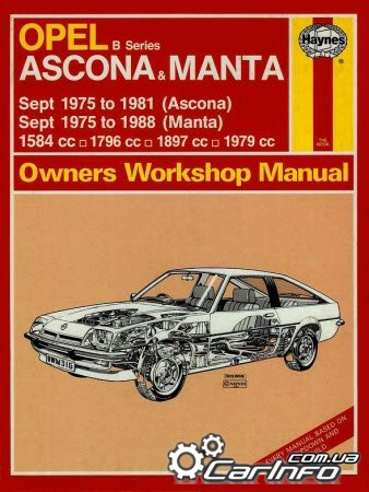 Opel Ascona & Manta B 1975 to 1988 Haynes Workshop Manual