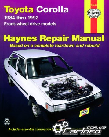 Toyota Corolla (1984 - 1992) USA Haynes Repair Manual