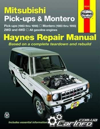 Mitsubishi Pick-up and Montero 1983 - 1996 Haynes Repair Manual
