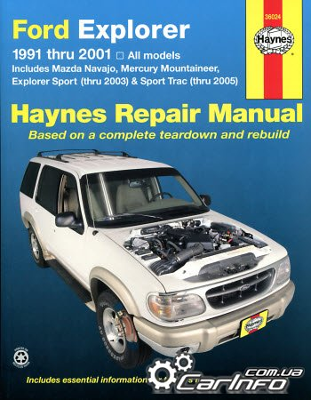 Ford Explorer, Mazda Navajo & Mercury Mountaineer 1991 - 2001 Haynes Repair Manual