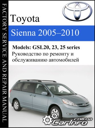 Toyota Sienna 2005-2010 Service Repair Manual