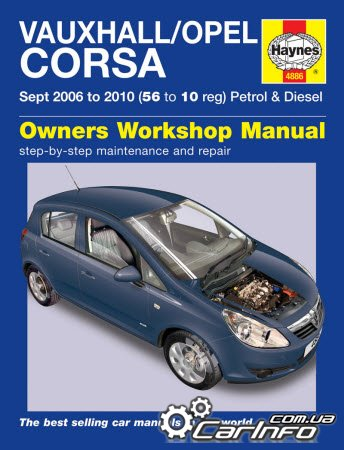 Opel Corsa D 2006 - 2010 Haynes Service and Repair Manual