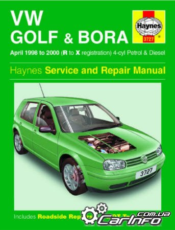 Volkswagen Golf and Bora Petrol and Diesel (1998-2000) Haynes Service and Repair Manuals