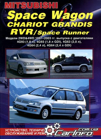 Mitsubishi SPACE WAGON, CHARIOT GRANDIS, RVR, SPACE RUNNER. Модели 2WD&4WD 1997-2003