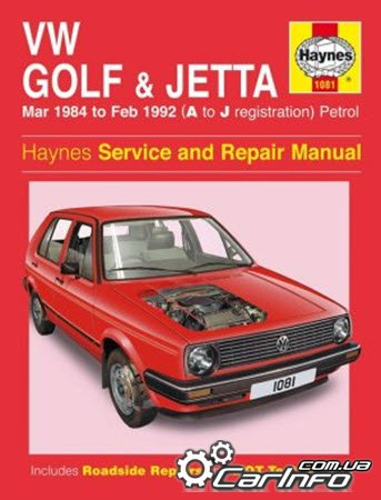 VW Golf & Jetta 1984-1992. Haynes Service and Repair Manual